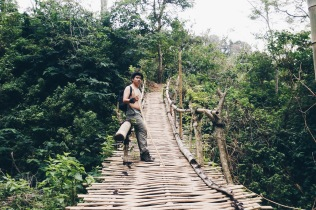 A bridge which bring us to Wae Rebo