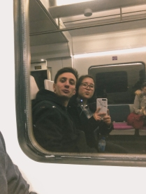 Selfie inside the train!