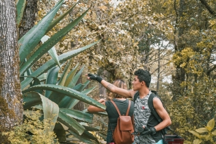 Arturo and an agave plant