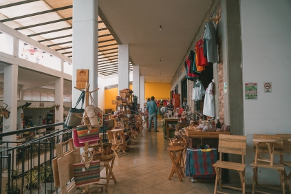 The inside part of the market