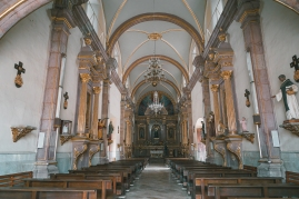 The inside of the parish