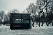 The bus stop (Telegrafbukta)